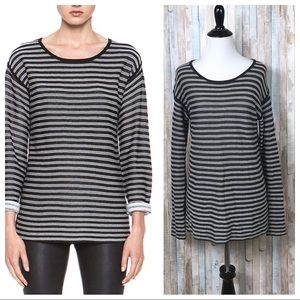 T Alexander Wang S Striped Pullover Sweater Top